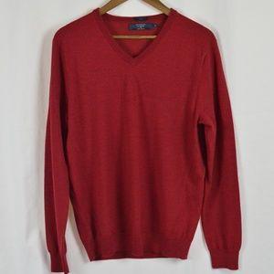 Like New Men's J Crew V-Neck Merino Wool Sweater
